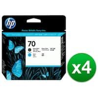HP 70 Matte Black & Cyan DesignJet Printhead (C9404A) (4-Pack)