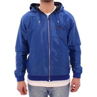 Costume National Costume National Blue hooded reversible jacket