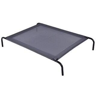 Gymax Large Dog Cat Bed Steel Frame Mat Indoor Outdoor Camping