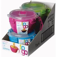 Sistema 21109 Klip It Noodle Bowl To Go Container, Assorted Color