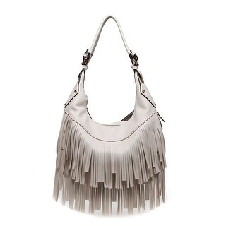 Style Strategy Bella Fringe Hobo Bag Beige