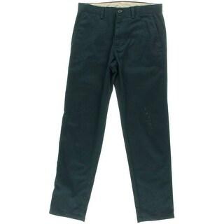 Haggar Mens Twill Slim Fit Chino Pants