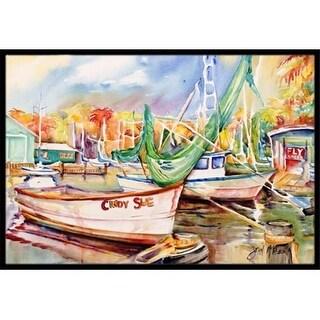 Carolines Treasures JMK1041JMAT Sailboat Cindy Sue Indoor & Outdoor Mat 24 x 36 in.