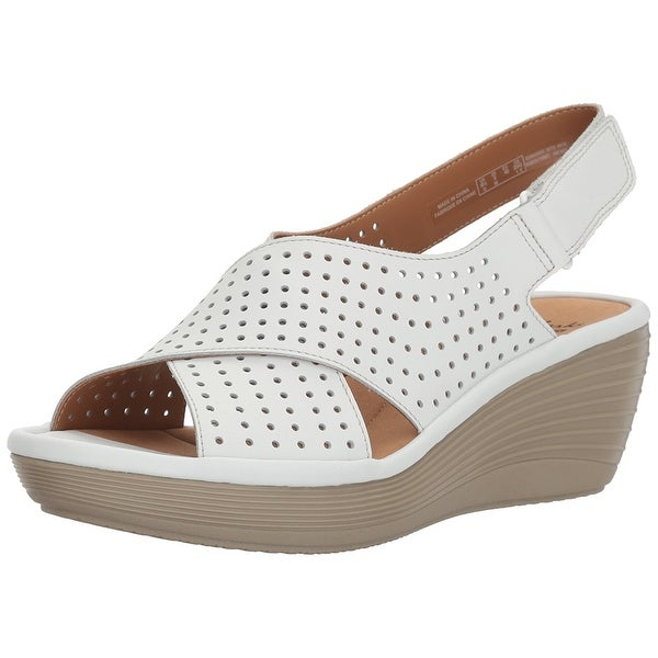 6419e3fd32f Shop CLARKS Women s Reedly Variel Wedge Sandal - Free Shipping On ...