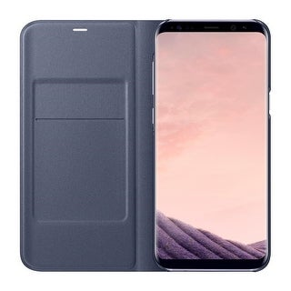 Samsung Galaxy S8+ LED Wallet View, Orchid Grey