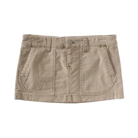 Aeropostale Womens Solid Corduroy Skirt, brown, 00