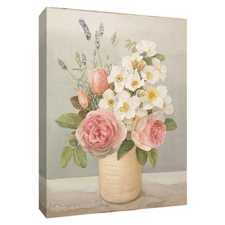 "PTM Images 9-154574  PTM Canvas Collection 10"" x 8"" - ""Cottage Florals"" Giclee Flowers Art Print on Canvas"