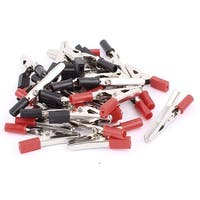 24 pcs Plastic Metal Spring Loaded Testing Test Crocodile Alligator Clamp Clip