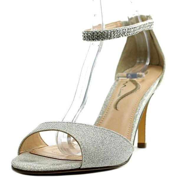 Nina Varetta Women Open Toe Synthetic Silver Sandals