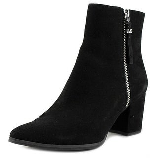 MICHAEL Michael Kors Womens Dawson Mid Bootie Pointed Toe Leather Fashion Boots