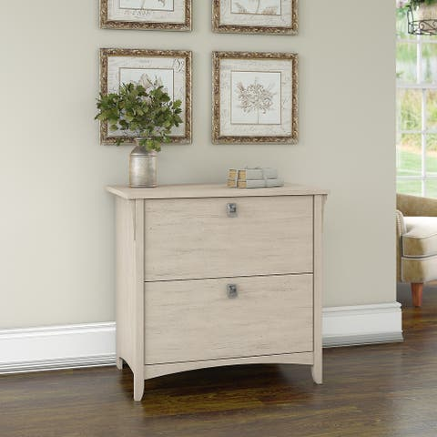 The Gray Barn Lowbridge Lateral File Cabinet in Antique White