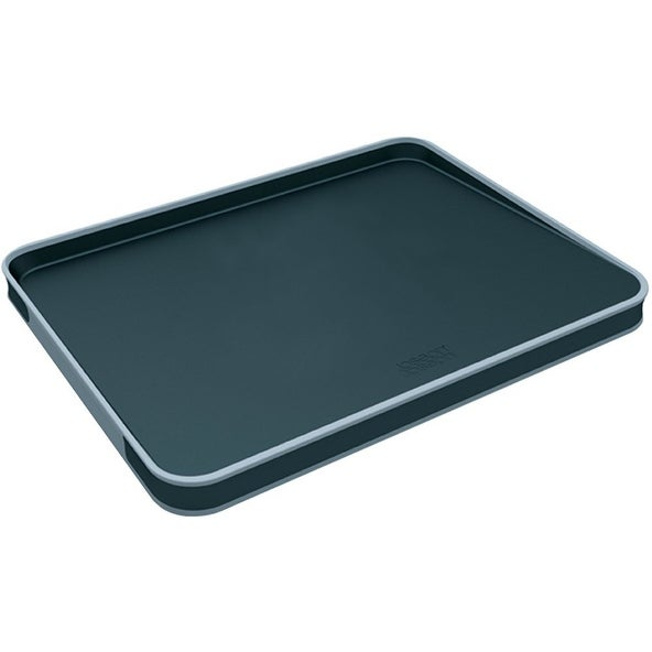 5f339a0a71d3 Shop Joseph Joseph Large Cut and Carve Plus Multi-Function Chopping Board,  Black - Free Shipping On Orders Over $45 - Overstock - 17817196