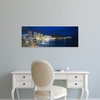 Easy Art Prints Panoramic Images's 'Buildings On The Waterfront, Waikiki, Honolulu, Oahu, Hawaii, USA' Canvas Art