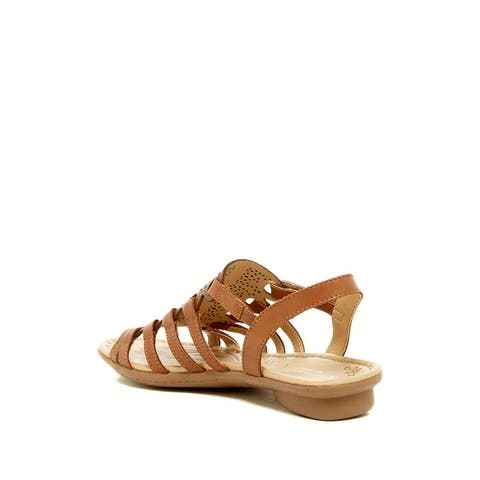 Naturalizer Womens whisper Leather Open Toe Casual Slingback Sandals