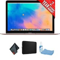 "Apple 12"" MacBook (Mid 2017, Rose Gold) Bundle"