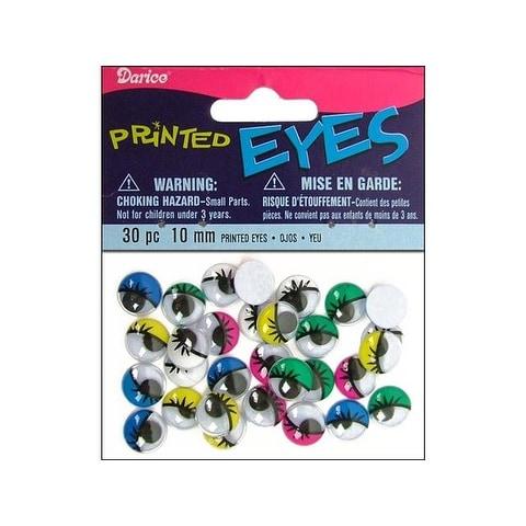 Darice Eyes Printed Moveable 10mm Astd 30pc