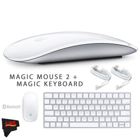 Apple Magic Mouse 2 MLA02LL/A + Apple Magic Keyboard MLA22LZ/A + MicroFiber Cloth Bundle
