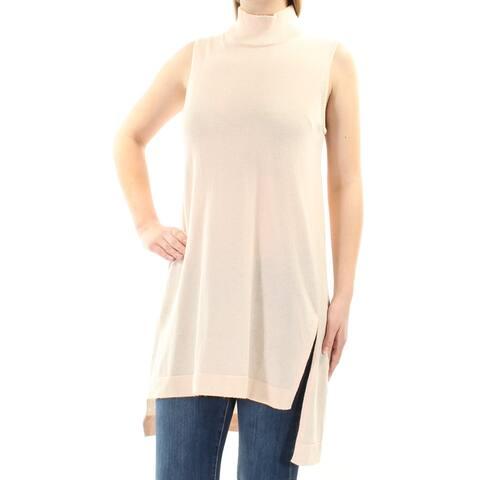 ALFANI Womens Pink Sleeveless Turtle Neck Sweater Size M