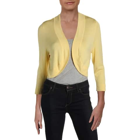 Jessica Howard Womens Shrug Sweater Knit Crop