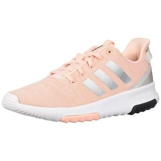 Adidas Kids Cf Racer Tr Running Shoe, Haze Coral/Metallic Silver/White, 6 M Us Big Kid
