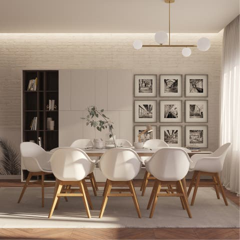 Urban Elements Nordic 9 Piece Dining Set - with Cushions