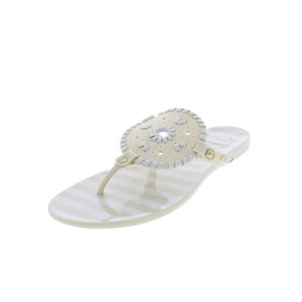 56d7ac4c7821 Shop Jack Rogers Womens Georgica Thong Sandals Striped Jelly - Free ...