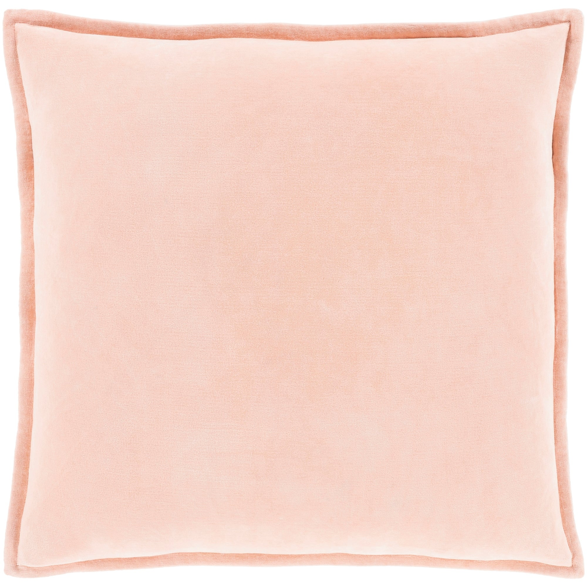 Vianne Solid Peach Pillow Cover 22 X 22 On Sale Overstock 23143594