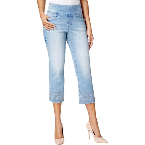 Jag Womens Embroidered Cropped Jeans - 0