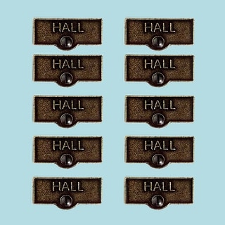 10 Switch Plate Tags HALL Name Signs Labels Cast Brass