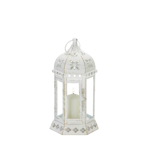 New Arriving Distressed Floral Lantern