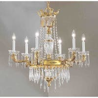 """Classic Lighting 57316-BBK 34"""" Crystal Chandelier from the Duchess Collection"""