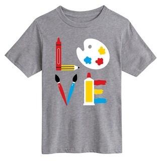 Love Art Supplies - Youth Short Sleeve Tee