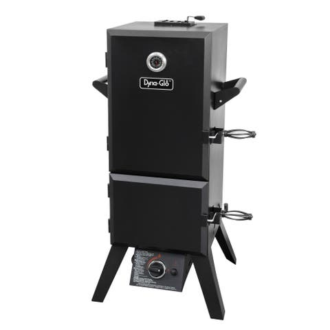 """Dyna-Glo DGY784BDP Steel 15,000 BTU Double Door Vertical Gas BBQ Smoker with 4 Adjustable Cook Grates, 784 Square"""" of Cooking"""
