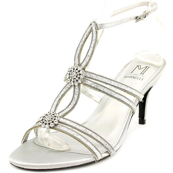 M by Marinelli Tika Women Open Toe Canvas Silver Sandals