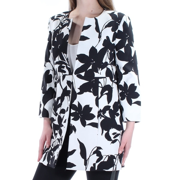 eb54778aac0 Shop Womens White Black Floral Wear To Work Blazer Jacket Size 6 - Free  Shipping On Orders Over  45 - Overstock - 21391841
