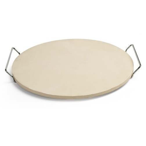 Pizzacraft PC0001 Round Pizza Stone with Wire Frame, 15""