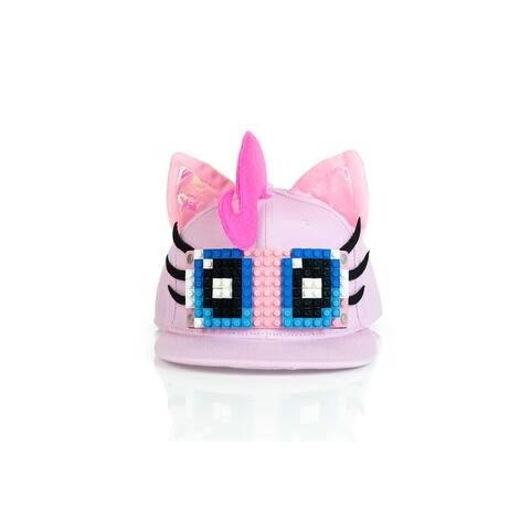 My Little Pony Pinkie Pie Snapback Hat / Cap with Bricky Blocks for Girls - Pink