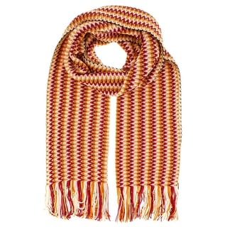 Missoni D4905   Wool Blend Crochet Knit  Scarf