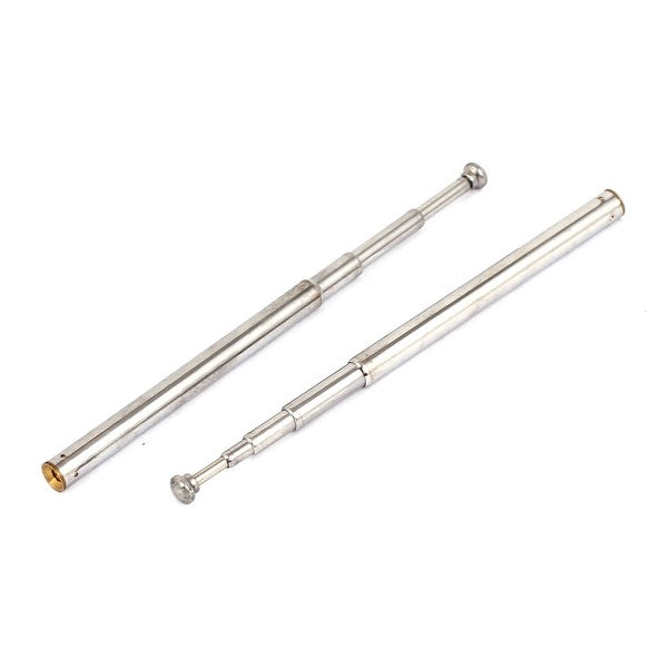 2pcs 21cm 5 Sections Telescopic Antenna Aerial for TV RC Controller FM AM Radio