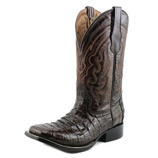 Circle G by Corral L5008 Men Square Toe Leather Brown Western Boot