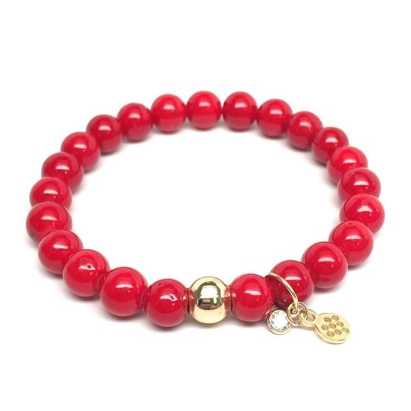 """Red Jade Zoe 7"""" Bracelet"""