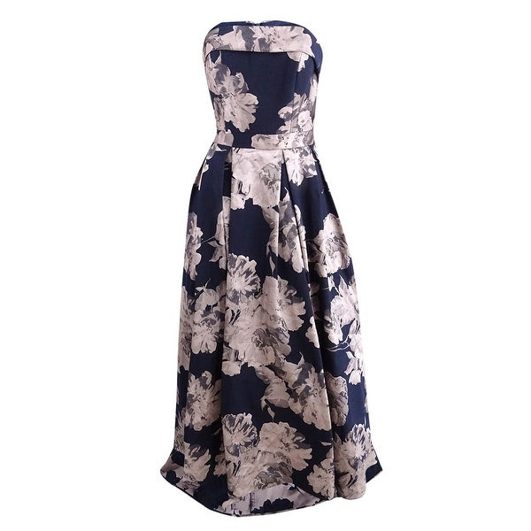 376441e6 Shop Xscape Women's Floral-Print Brocade Strapless Gown (4, Navy/Blush) -  Navy/Blush - 4 - On Sale - Free Shipping Today - Overstock - 26453953