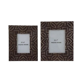 """""""Marquise Antique Black Photo Frame A2000183F - Set of 2 Marquise Antique Black Photo Frame - Set of 2"""""""