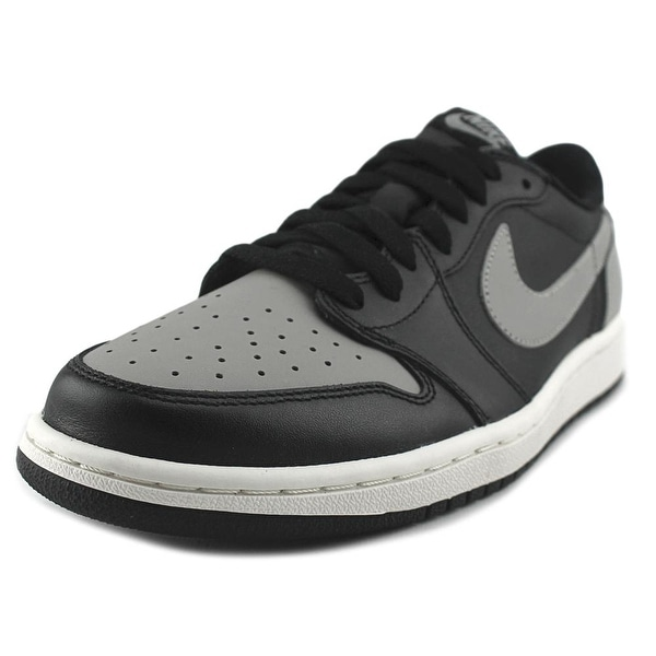 Jordan 1 Retro Low OG Men Round Toe Synthetic Black Basketball Shoe