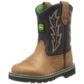 John Deere Leather Infant Boys Cowboy, Western Boots - 4 medium (d)