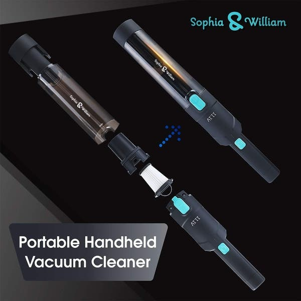 Sophia /& William Cordless Handheld Vacuum Cleaner Rechargeable Portable Small Handheld Vacuum Cleaner Lightweight with Powerful Suction and Charging Base