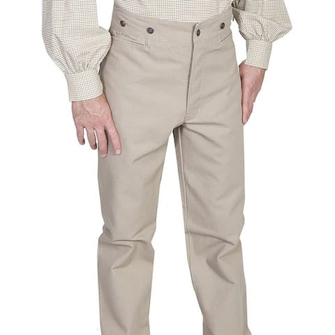 Scully Western Pants Mens Canvas Old West Button Fly Adjustable