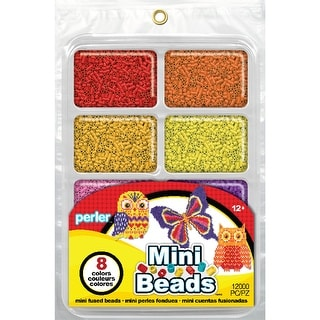 Perler Mini Beads Fused Bead Tray 8,000/Pkg-Warm