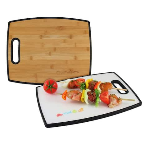 """Totally Bamboo 20-7942 Reversible Poly-Boo Cutting Board, 16"""""""