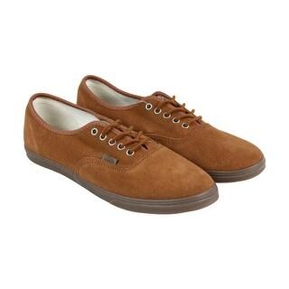 Vans Authentic Lo Pro Mens Brown Suede Lace Up Lace Up Sneakers Shoes